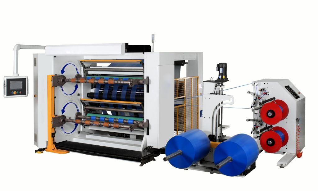 Rewind slitter productive automatic roll off loading equipment
